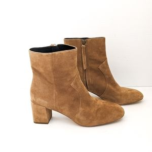 Rebecca Minkoff LILLIAN Suede Taupe Booties